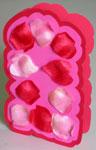 Unique love card with petals