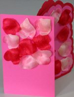 Tips and tricks for making love card from heart shaped petals with no words on the cover