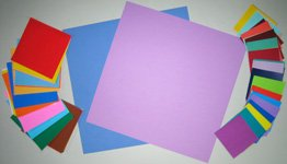 Mothers Day origami card materials