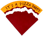 Pizza party invitation step 11