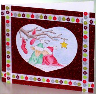 Romantic holiday card