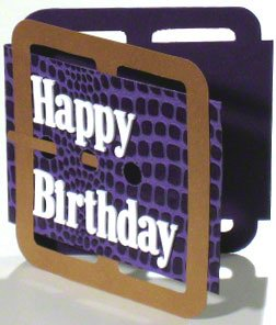 Unique birthday greeting card that looks like a leather belt