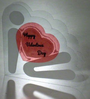 Unique valentines day card that's transparent