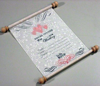 Make a Unique Wedding Invitation Scroll