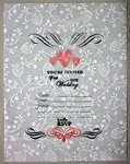 Scroll like white unique wedding invitation card making instructions step 1